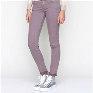 Mother The Looker Pop Jeans Tie Dye Lilac Skinny